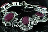 Ruby Bracelet in Sterling Silver CSS037