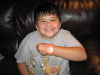 Myles wearing his new Flashing Watch