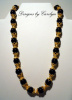 Black Onyx & 22K Gold over Copper Necklace CSS109BO-N