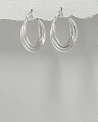 Sterling Silver Hoop Earrings 2-183-457