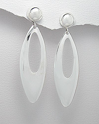 Long Sterling Silver Earrings 54-706-3858
