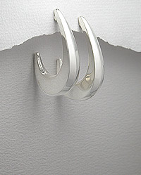 3/4 Hoop Sterling Silver Earrings 54-706-3280