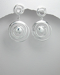 Sterling Silver Earrings 54-706-4397