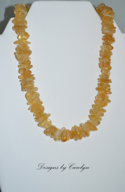 Citrine & Sterling Silver Necklace CSS 103 N