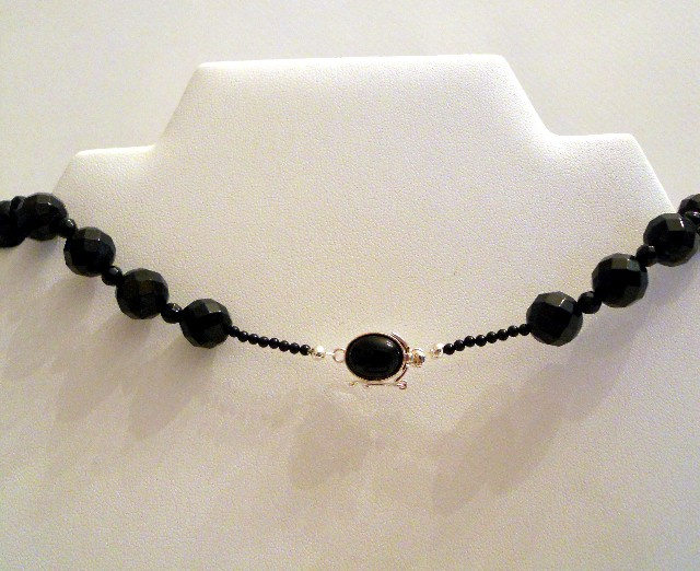 Faceted Black Onyx Necklace CSS116N