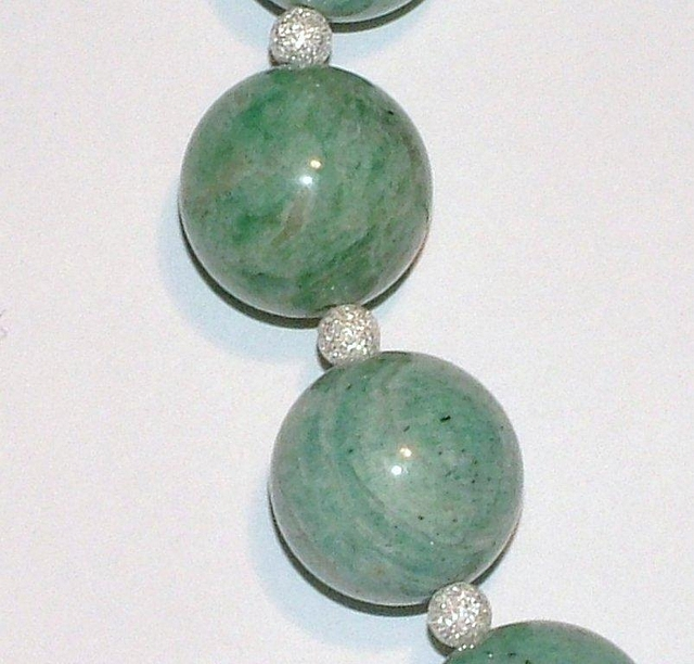 Amazonite & Stardust Sterling Silver Bead Necklace CSS 106 N