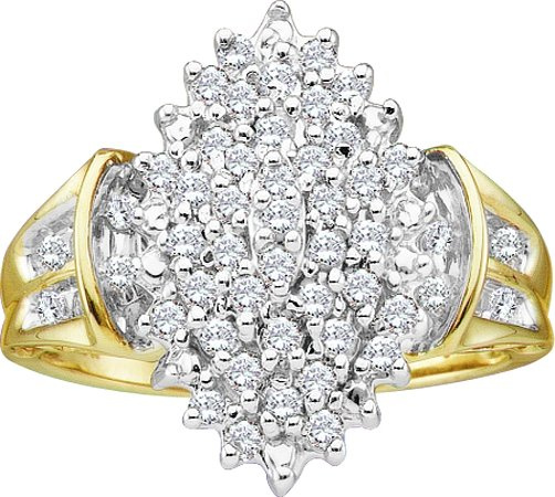 0.50CTW Diamond Ladies Cluster Ring  CSSFROH0053
