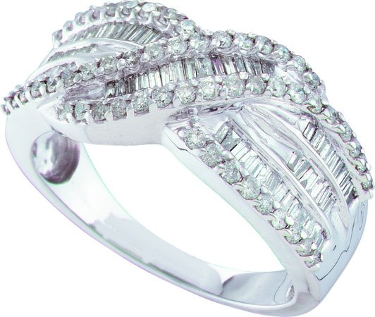 0.77CT Diamond Ladies Band CSS-FORRB1995/W-14K