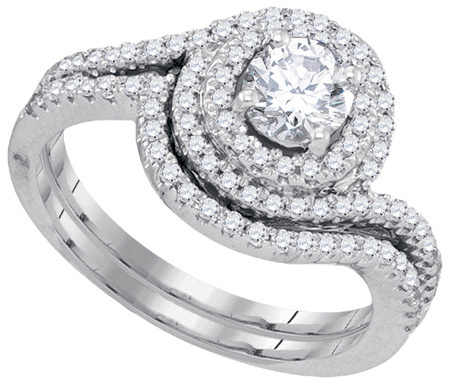 1.00 CTW Diamond 0.50 CT Center Round Bridal Set CSSJR01184/W