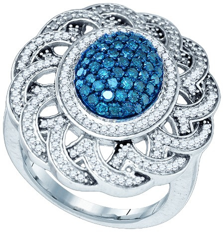 1.18 CT Blue and White Diamond Ring  CSSMMR13215/W