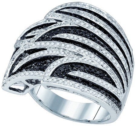1.38 CT Black and White Diamond Fashion Band CSSGIR9200E/W