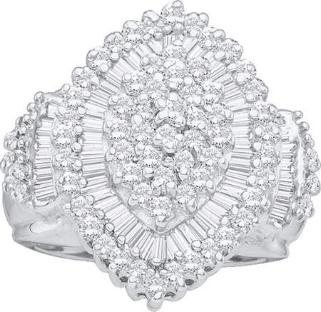 1.00 CT Diamond Cluster Ring  CSSFBC0715