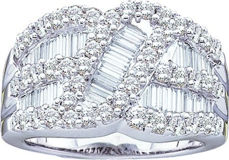 2.00CT Round Baguette Diamond Ladies Fashion Band  CSS-GC2169/W