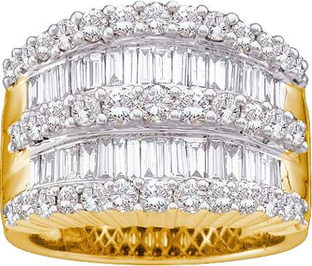 2.00CT Round Baguette Diamond Ladies Band CSS-GC1780/W