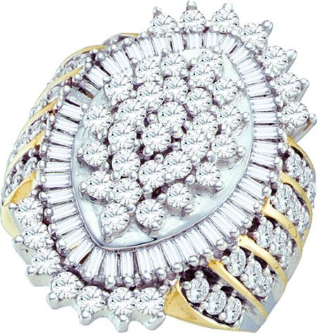 3 CT Diamond Ladies Cluster Ring  CSSFB30630