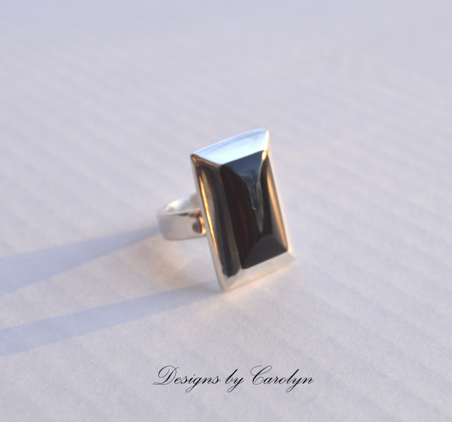 Black Onyx Sterling Silver Ring CSS142R