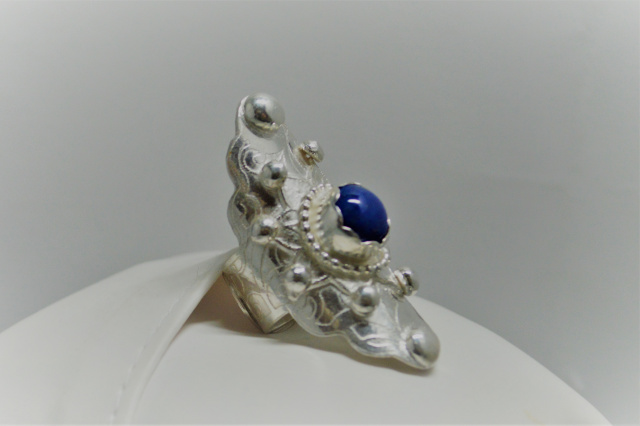 Lapis Sterling Silver BOHO Saddle Ring CSS157R