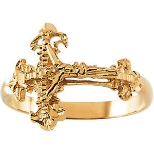 Ladies Crucifix Ring R43024
