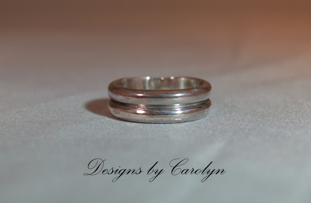 Double Half Round Sterling Silver Band CSS131R