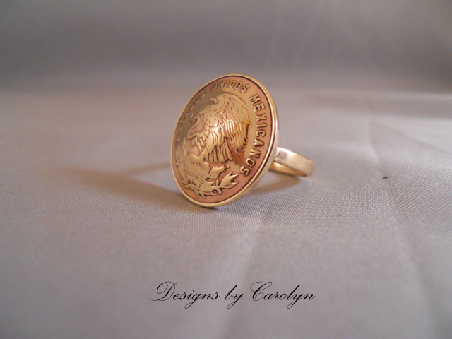 Large Brass Coin Ring CSS126R/L