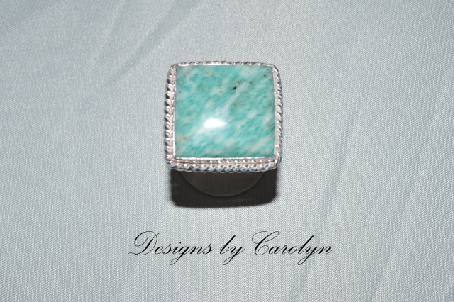 Large Multi Color Amazonite Sterling Silver Ring CSS135R