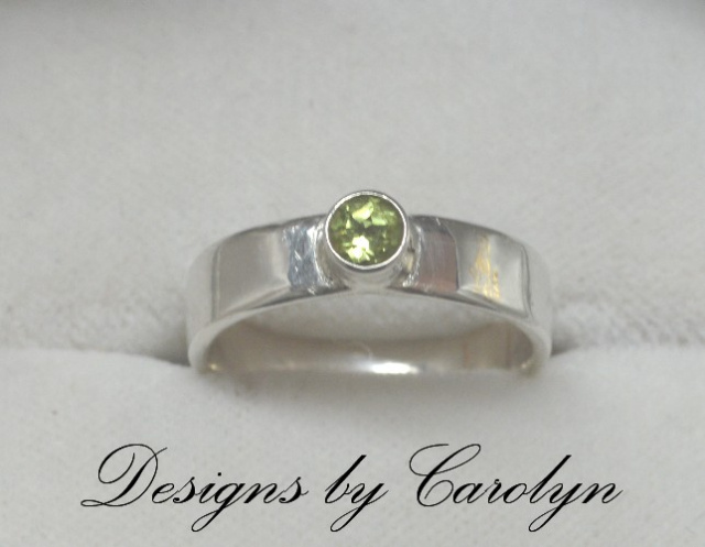 Peridot Sterling Silver Stack Ring CSS144R