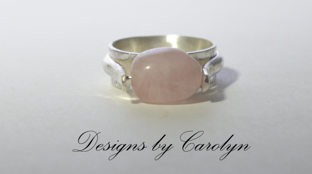 Rose Quartz Bead Sterling Silver Ring CSS150R