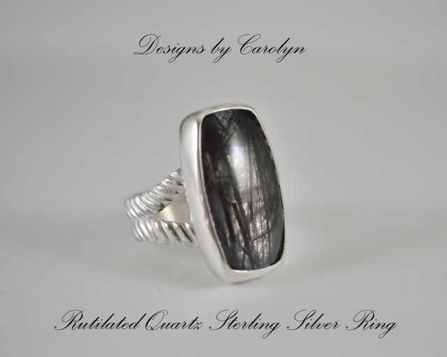 Rutilated Quartz Sterling Silver Ring CSS148R