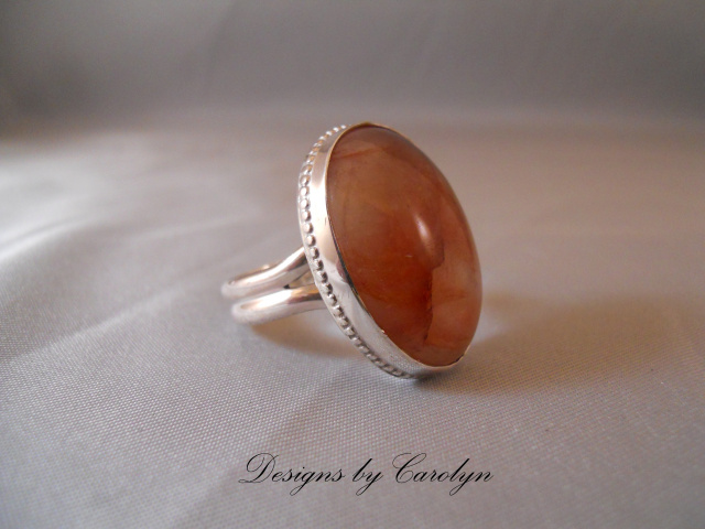 Strawberry Agate Sterling Silver Ring CSS3283R