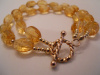 Faceted Citrine & 14/20 Gold Filled Double Strand Bracelet  CSS121B