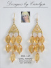 Citrine & 14/20 Gold Filled Chandelier Earrings CSS113E