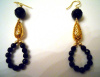 Faceted Black Onyx & Gold Vermeil Earrings CSS117E