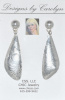 Fine Silver Embossed Dangle Earrings CSS191E