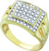 0.50 CT Diamond Cluster Mens Ring  CSS9926