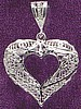 Large Open Filigree Heart Pendant in Sterling Silver 10015
