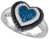 0.27 CT Blue, Black and W