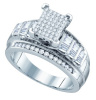 0.66 CTW Diamond Ladies Micro-Pave Sterling Silver Ring  CSSSRWW1392