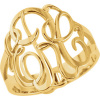 18mm 3-Letter Script Monogram Ring